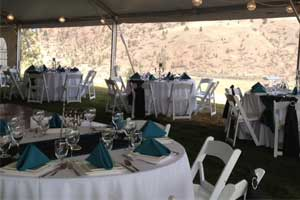 Chair and table rentals in Kamloops