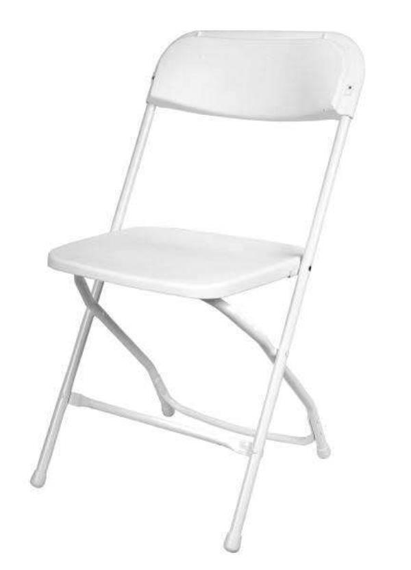 Where to find CHAIR, WHITE - FOLDING in Kamloops